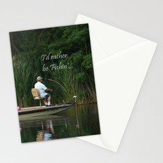 I'd Rather Be Fishin' Stationery Cards
