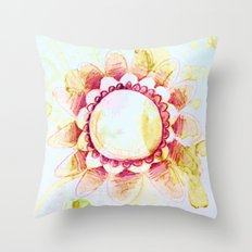 tea flower Throw Pillow