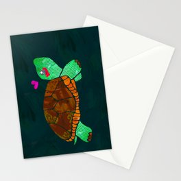 Painted Turtle Stationery Cards