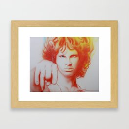 'I See Your Hair Is Burning' Framed Art Print
