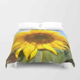 sunflower photography Duvet Cover