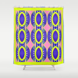 Retro Art Deco Modern Color Study Shower Curtain