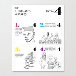 The Illuminated Mixtapes, Edition 4 Canvas Print
