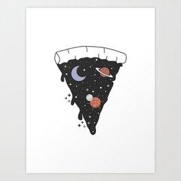 Slice Space Pizza Art Print