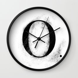 O. - Distressed Initial Wall Clock