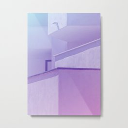 Abstract Geometric Architecture Metal Print