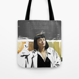 PULP FICTION | PAINTING | Girl, You'll Be a Woman Soon | Quote | Vintage Style Poster | Print #M43 Tote Bag