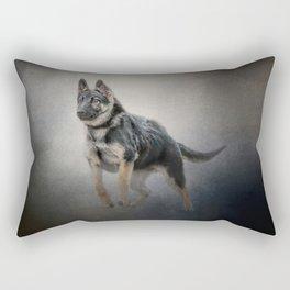Feet First - German Shepherd Puppy Rectangular Pillow