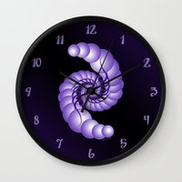 hook Wall Clocks featuring Julia's Hook by artsytoocreations