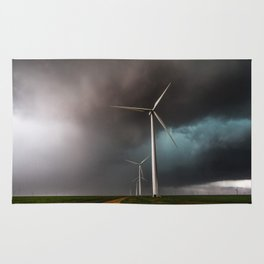 Wind Farm - Renewable Energy on the Texas Plains Rug
