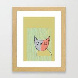 Cubist Cat Study #3 by Friztin Framed Art Print