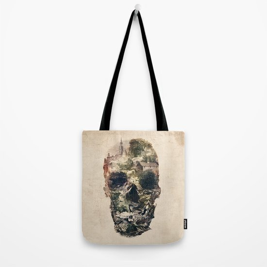 Skull Town Tote Bag