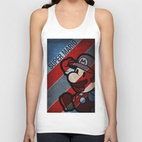 super mario Tank Tops featuring SUPER MARIO by sbs' things