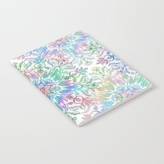 Nature Mandala in Rainbow Hues Notebook