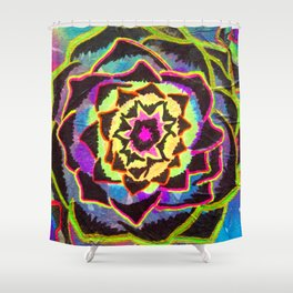 Organic Mandala Shower Curtain