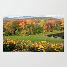 Vermont Foliage Watercolor Rug