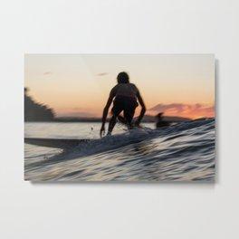 Slow Sunset Metal Print
