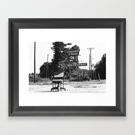 The Lonely Chair Framed Art Print