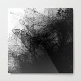 Black Fabric Metal Print
