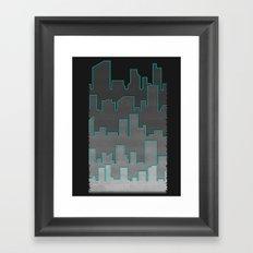 The Turquoise Outline Framed Art Print