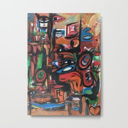Perception, Sizzle and Eyes, a beautiful abstract piece. Metal Print