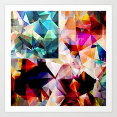Colorful Geometric Abstract Art Print