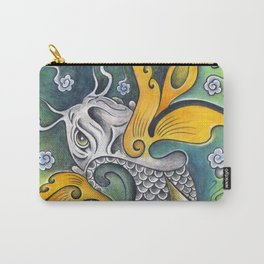 Yellow Winged Koi Carry-All Pouch