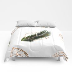 Palm + Geometry V2 #society6 #decor #buyart Comforters