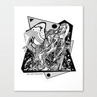 prometheus Canvas Prints featuring Prometheus by Pat Pot Designs