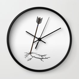 Arrow in the ground Wall Clock