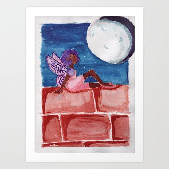 Fairy in the Moonlight Art Print