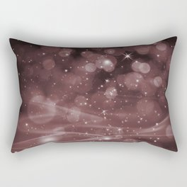 Pantone Red Pear Whimsical Glowing Orb Sparkles Rectangular Pillow