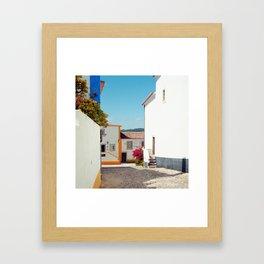 Obidos, Portugal (RR 177) Analog 6x6 odak Ektar 100 Framed Art Print