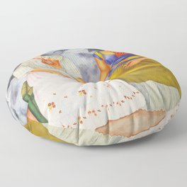 Two fridas art Floor Pillow