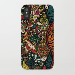Ethnic Pug iPhone Case