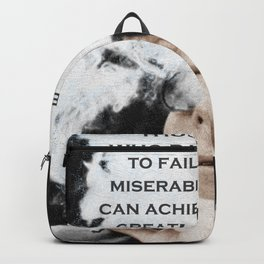 John F Kennedy Cigar and Sunglasses 3 And Quote Backpack
