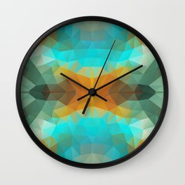 Triangles design in bright colors Wall Clock