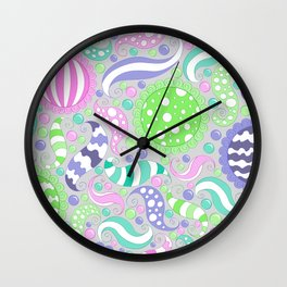 Candy Store Pattern Print Wall Clock