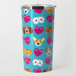 Cat Loves Dog Loves Cat Travel Mug