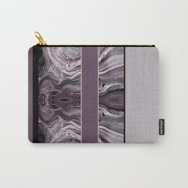 Marbled Mauve Pink Stripes Carry-All Pouch