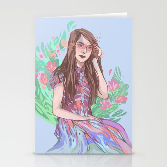 Floral Bird Stationery Cards