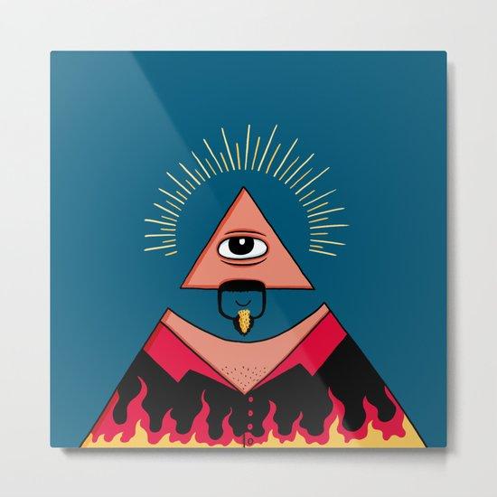 The All Seeing Eye Fieri  Metal Print