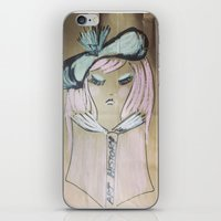 art history iPhone & iPod Skins featuring Pink Ladies: Art History by Amy Burvall