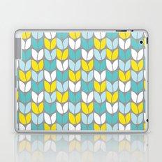 Tulip Knit (Aqua Gray Yellow) Laptop & iPad Skin