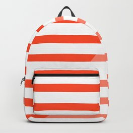 Beach Stripes Red Pink Backpack