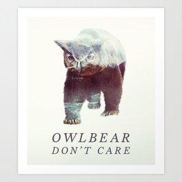 Owlbear (Typography) Art Print