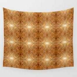 Rich Gold Bronze Mandala Engraved Pattern Wall Tapestry