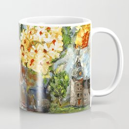 Flowers,  Fruit and a Cathedral Coffee Mug