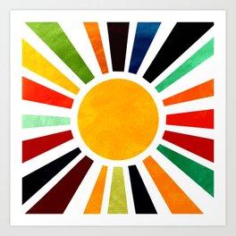 Sun Retro Art Art Print