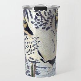 Never Resting - Leopard by Maureen Donovan Travel Mug